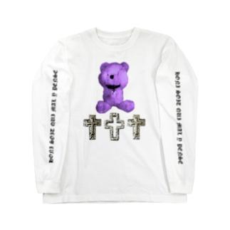Peek-a-boo CROSS Teddy BLUEBERRY Long sleeve T-shirts