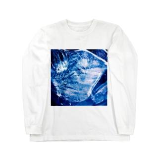 青い氷 Long sleeve T-shirts