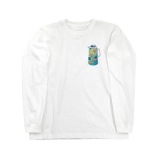 夢の給湯ポット 中国茶 Long sleeve T-shirts