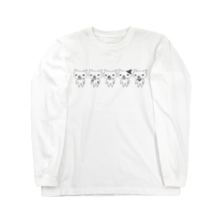 野良猫五人衆 Long sleeve T-shirts