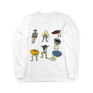 ケツアシセブン Long sleeve T-shirts