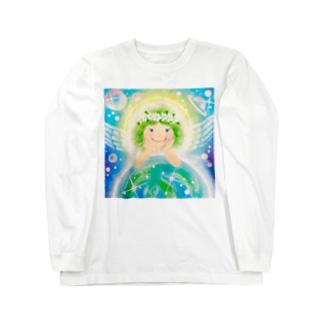 スターシードな天使ちゃん Long sleeve T-shirts