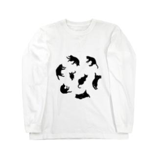 Kitties (Black Long sleeve T-shirts