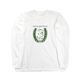 長崎の荷運び馬 Long sleeve T-shirts