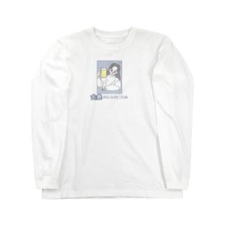 大衆おんなのこClub ブルー Long sleeve T-shirts