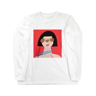 から揚げの女 Long sleeve T-shirts