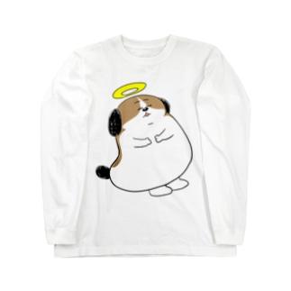 もじゃまる昇天 Long sleeve T-shirts