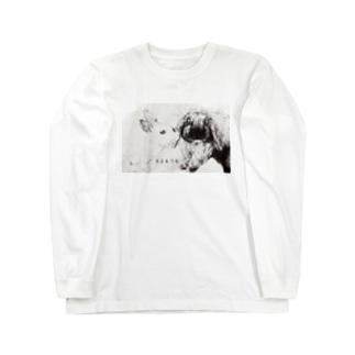 ちゅっ(まる&うを) Long sleeve T-shirts