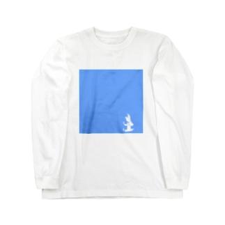 トリケラトプス シルエット 小 Long sleeve T-shirts