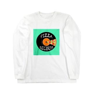 ピザレコード Long sleeve T-shirts