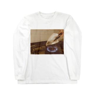 豚の耳を焼く Long sleeve T-shirts