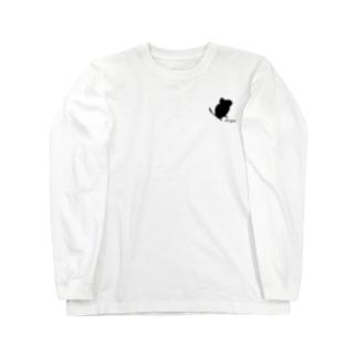 ちょこんとデグーシルエット Long sleeve T-shirts