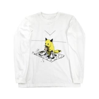 きつねさんシリーズ(ピクニック) Long sleeve T-shirts