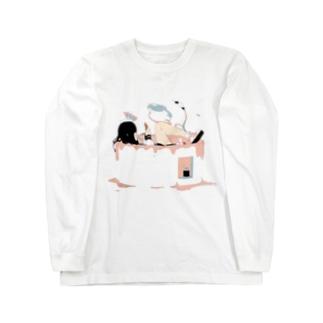 しらす丼 Long sleeve T-shirts