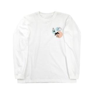 たつおと海子 公式ショップのサーフボードと夏の海 Long sleeve T-shirts