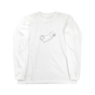 ふせした日本スピッツ Long sleeve T-shirts