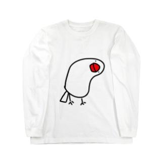 首かしげ文鳥 Long sleeve T-shirts