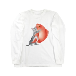 恋猫(姫ニャン) Long sleeve T-shirts