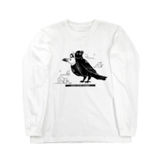 我ヲ朝夕拝ミタマヘ-ヨゲンノトリ- Long sleeve T-shirts