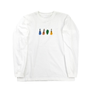 クールになったゴーヤーとウクレレ Long sleeve T-shirts