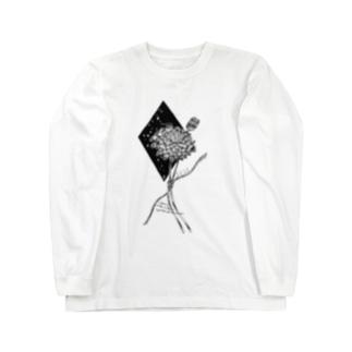 誕生花 ユリオプスデイジー Long sleeve T-shirts