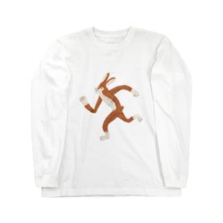 にげろ!(文字なし) Long sleeve T-shirts