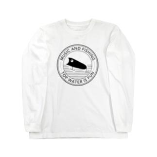 音楽と釣りの釣りTシャツ トップウォーター Long sleeve T-shirts
