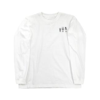かわうそ+うさぎ+くま Long sleeve T-shirts