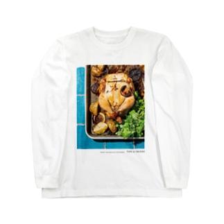 丸鶏のレモンロースト、コリアンダー添え Long sleeve T-shirts