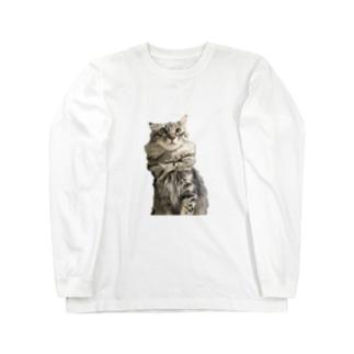 ポポのお店のヒナオねこグッズ Long sleeve T-shirts