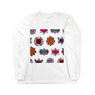 ジュンカジュエル ホワイト Long sleeve T-shirts
