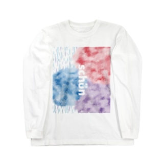 紫陽花と雨 Long sleeve T-shirts