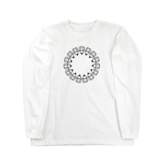 えんぴつの輪_黒 Long sleeve T-shirts