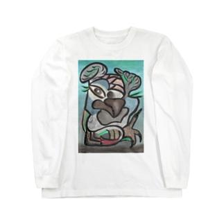 ヨウムモデル Long sleeve T-shirts