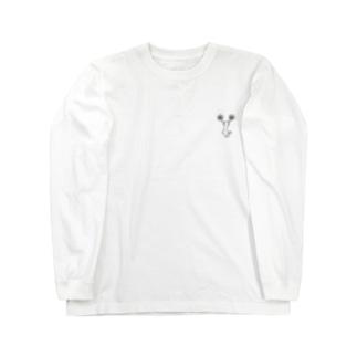 チア Cジャンプ モノクロ Long sleeve T-shirts