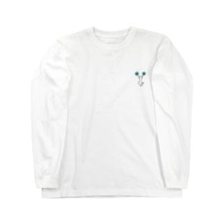 チアCジャンプ 水色 Long sleeve T-shirts