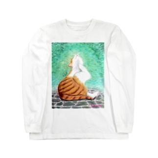 あごカイカイ Long sleeve T-shirts