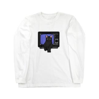 テレビと猫 ロンT Long sleeve T-shirts