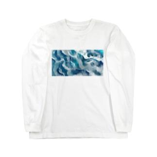 泡の重なりのフリル Long sleeve T-shirts
