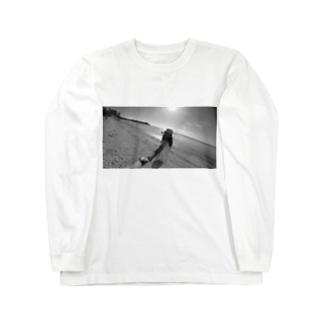 彼女とデートなう。 Long sleeve T-shirts