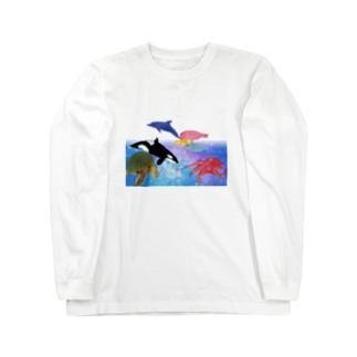 St.SKの水族館 Long sleeve T-shirts