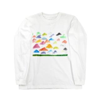 虹色のやね Long sleeve T-shirts