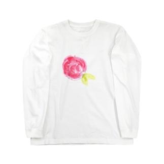 赤いバラ Long sleeve T-shirts