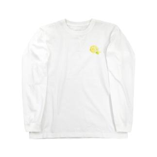 黄色のバラ Long sleeve T-shirts