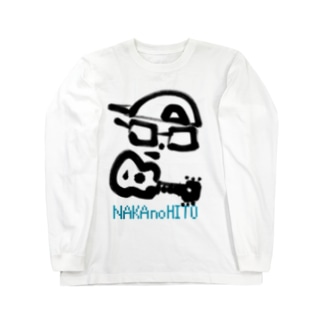 中の人(Black&Turquoise) Long sleeve T-shirts