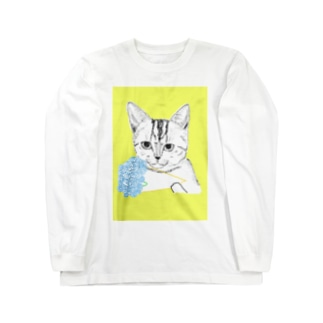 花束猫 Long sleeve T-shirts