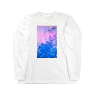 四季山水図remix Long sleeve T-shirts