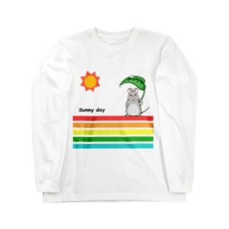 ネズミ君のお散歩 Long sleeve T-shirts