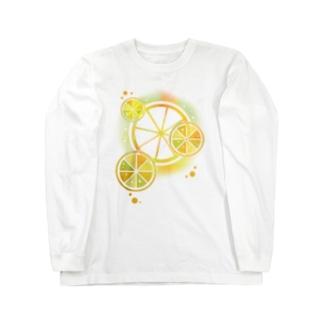 フレッシュオレンジ Long sleeve T-shirts