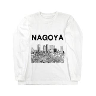 The City 名駅摩天楼 Long sleeve T-shirts